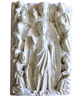 Bas relief of the Ascension of Jesus Christ