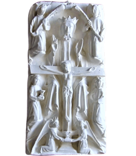 Bas relief of the crucifixion and death of Jesus Christ