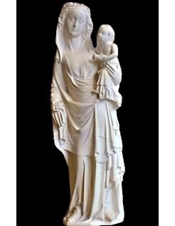 Statue de Vierge Marie à l'enfant  Cathédrale de Reims