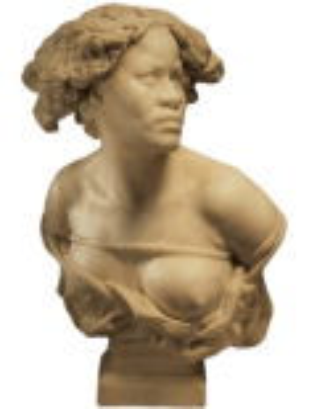 Busto de África ¿Por qué nací esclavo? por Jean-Baptiste Carpeaux