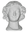 Bust of the Smiling Angel or the smile of Reims - Saint Nicaise - Reims Cathedral