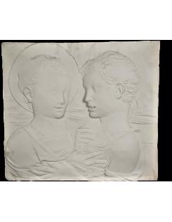 Bas-relief, Jésus et saint Jean-Baptiste enfants, dit Tondo Arconati Visconti d'après Desiderio da Settignano
