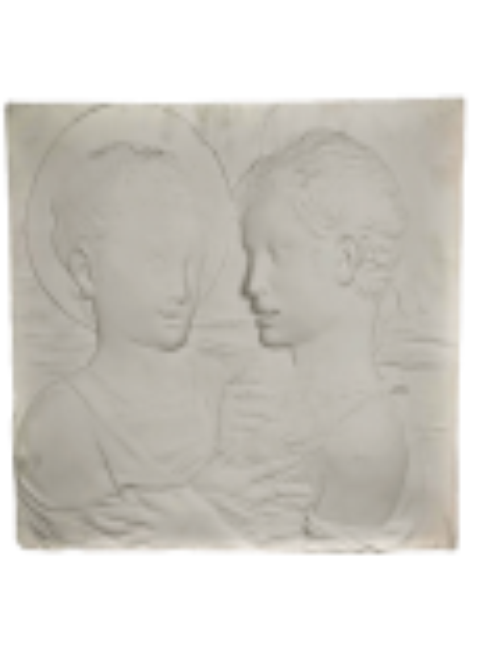 Bas relief, Jesus and St. John the Baptist children, known as Tondo Arconati Visconti by Desiderio da Settignano