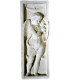 Bas relief of angel playing lyre