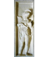 Bas relief of angel playing the bowed lute