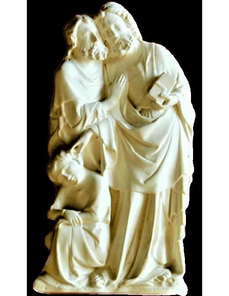 Bas-relief baiser de Judas à Jésus Christ, Jésus guérit l'oreille de Malchus venu l'arrêter