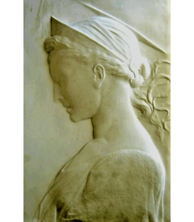 Bas-relief of Saint Cecilia by Donatello