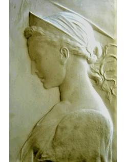 Bas-relief Sainte Cécile d'après Donatello
