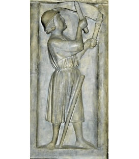 Bas relief the reaper - The Cathedral of Notre Dame de Paris