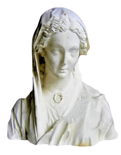 Busto de la Virgen de la Visitación - Catedral de Reims