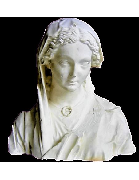 Buste vierge de la Visitation - Cathédrale de Reims