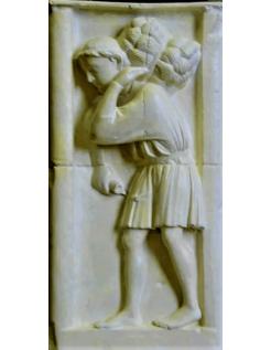 Bas relief le moissonneur - Cathédrale Notre dame de Paris