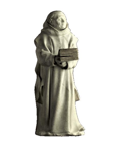 Statue de pleurant de Dijon n°9 par Claus Suter - Tombeau de Philippe le Hardi