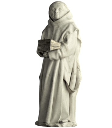 Statue of a mourner of Dijon known as No. 9 by Claus Suter - Tomb of Philip the Bold