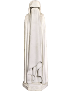 Estatua de Llorón velado, escondiendo su rostro por Jean de Cambrai