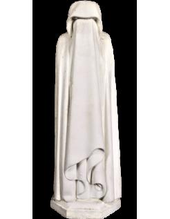 Statue de Pleurant voilé, cachant son visage par Jean de Cambrai