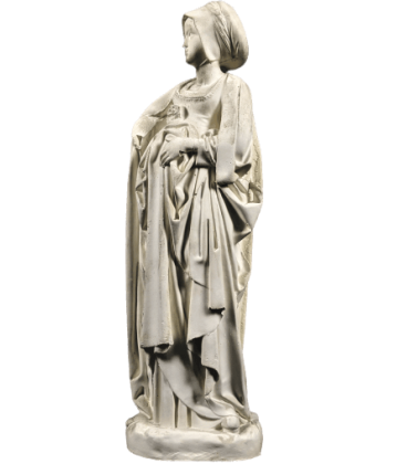 Statue of Mourner, young mourning courtesan