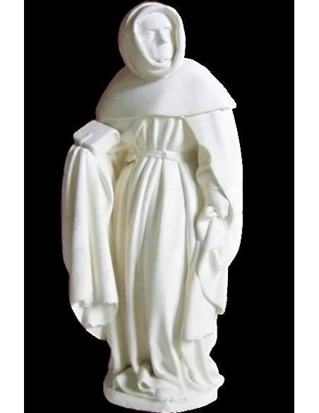 Estatua de Llorón sosteniendo su Biblia con la mano derecha y su manto con la mano izquierda