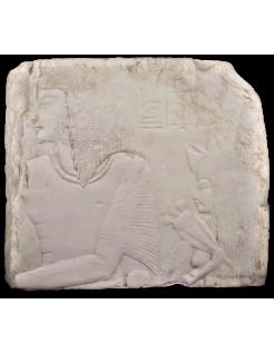 Bajo relieve: Amenemes y su esposa Depet, parientes de Imeneminet