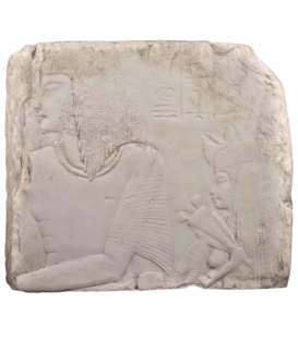 Bas relief : Amenemes et son épouse Depet, parents d'Imeneminet