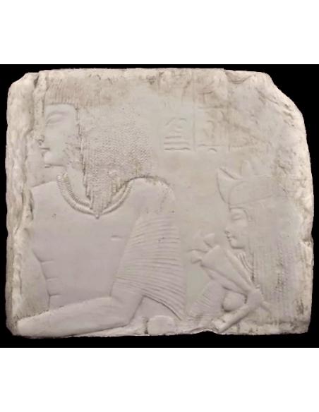 Bas relief : Amenemes et son épouse Depet, parents d'Imeneminet