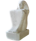 Cube statue of the seated scribe Paari