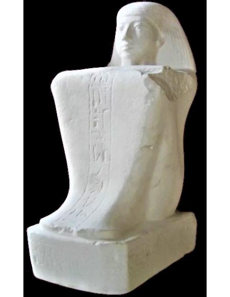 Statue cube du scribe assis Paari