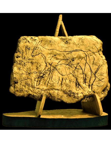 Biche gravée - grotte de Pergouset