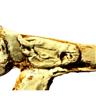 Spearthrower engraved with three horse heads - cave of mas Azil