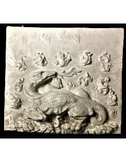 Bajorrelieve de la salamandra, emblema de Francisco I, Castillo real de blois