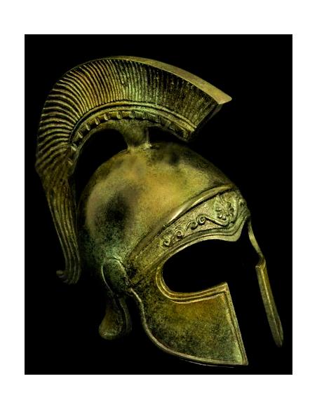 Casque athénien antique en bronze