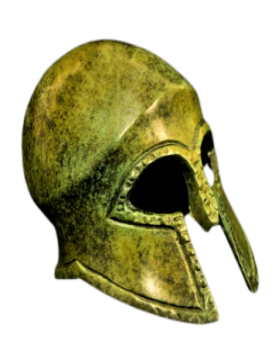 Casco corintio antiguo en bronce