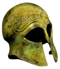 Ancient Athenian Helmet in bronze inspired by Metropolitan Museum of Art