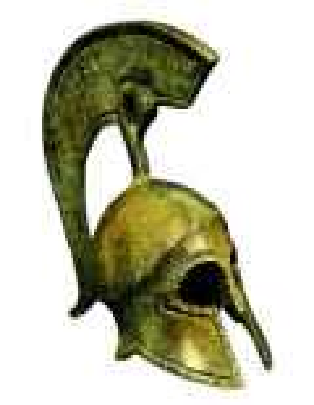 Casque grec antique en bronze