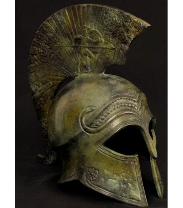 Casque corinthien antique en bronze inspiré du Metropolitan Museum of Art