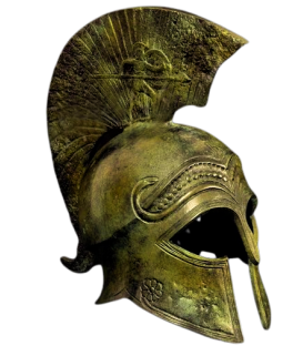 Ancient Corinthian Helmet in bronze inspired by Metropolitan Museum of Art