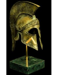 Yelmo corintio de bronce inspirado del rey Leónidas de Esparta