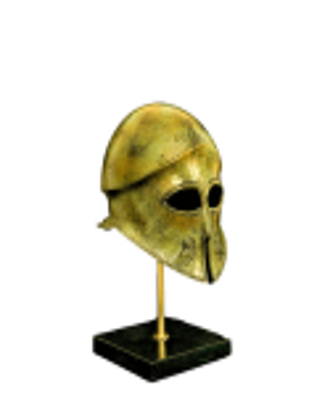 Yelmo de hoplita ateniense en bronce