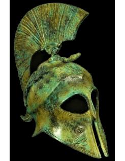 Bronze helmet of the goddess Athena