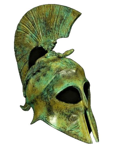Casque de la déesse Athena en bronze