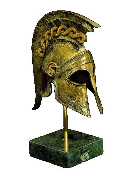 Casque spartiate en bronze