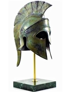 Spartan helmet in bronze
