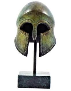 Casque corinthien antique en bronze