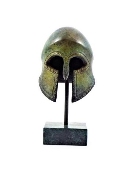 Antique Corinthian helmet in bronze