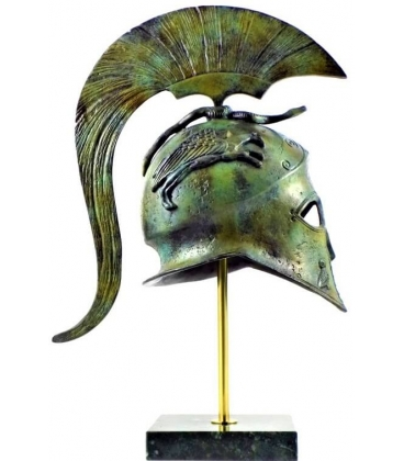 Helmet of the goddess Athena with griffins