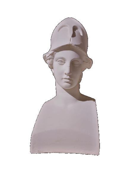 Buste de Miverna avec casque, également appelée Athéna