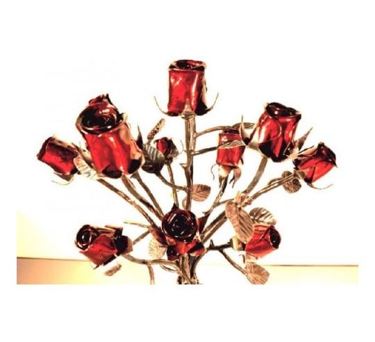 Ramo de flores de hierro forjado