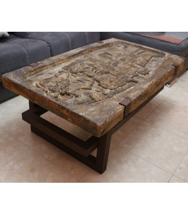 Table basse stèle royale Maya