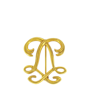 Louis XIV Monogram Brooch