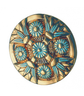 Brooch-pendant with four lotus flowers